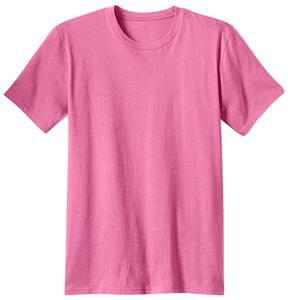 District Young Men's Pink Cotton Concert Tee Shirt