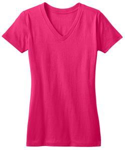 District Juniors Pink Concert V-Neck Tee Shirts