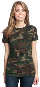District Made Ladies' Perfect Weight Crew Camo Tee