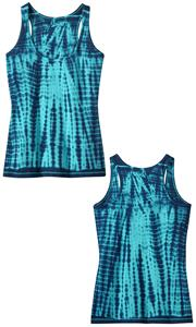 District Juniors Tie-Dye Racerback Tank Top Shirt