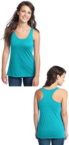 District Juniors 60/40 Racerback Tank Top Shirts