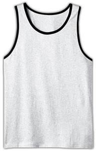 District Young Men's Cotton Ringer Tank Top Shirts