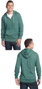District Men's Marled Full-Zip Hoodie Jackets