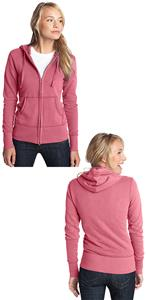 District Juniors French Terry Full-Zip Pink Hoodie