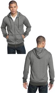 District Made Men's Mini Stripe Full-Zip Hoodie