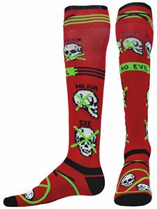 Red Lion Zany Skully Performance Socks