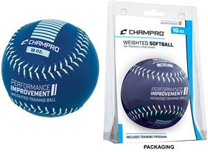 Leather Weighted Training Softballs (Clam Shell)