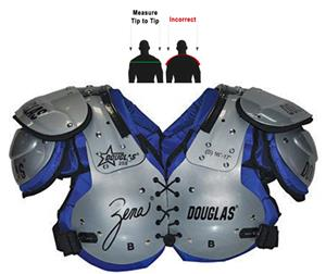 Douglas Pads Football Womens Zena 25 Shoulder Pads