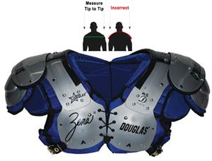 Douglas Pads Football Womens Zena DZ Shoulder Pads