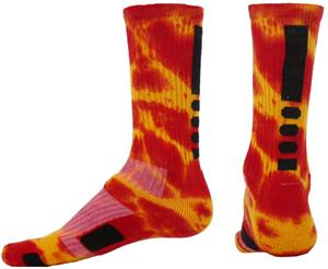 Red Lion Max Medium Weight Tie Dyed Crew Socks