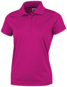 Baw Ladies Short Sleeve Xtreme-Tek Pink Polo Shirt