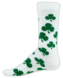 Red Lion Charm Clover Crew Socks