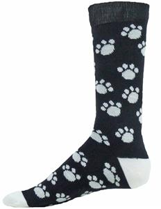 Red Lion Trails Paw Print Crew Socks