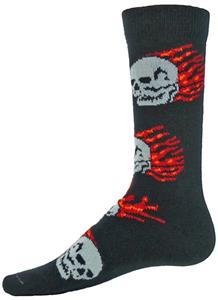 Red Lion Blaze Skull/Flames Crew Socks