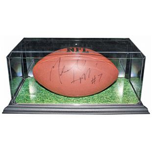 Football Display Case With Plastic Base
