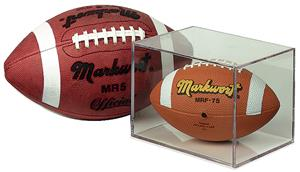 BallQube Mini-Helmet Football Holder Display Case