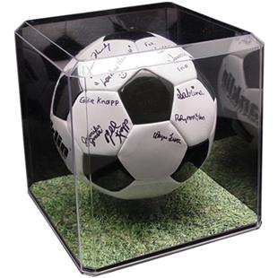 Soccer Display Case With Custom Graphic Base