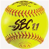"Dudley Spalding 11"" ASA SBC Leather Softballs"