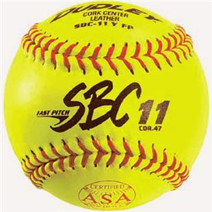 "Dudley Spalding 11"" ASA SBC Leather Softballs"