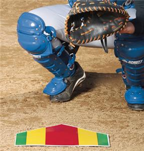 Baseball Color Coded Pitching Training Home Plate