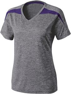 Holloway Ladies Ballistic Heathered V-Neck Shirts