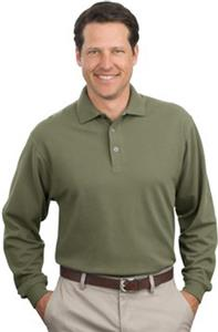 Port & Company Adult Long Sleeve Pique Polos