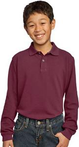 Port & Company Youth Long Sleeve Pique Polos