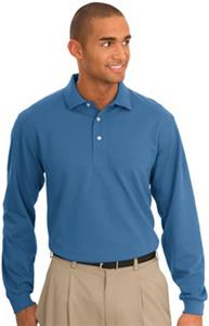 Port & Company Adult Long Sleeve Rapid Dry Polos