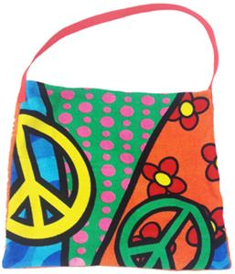 Kiki's Nation Multi Peace Sign Towel Shoulder Bag