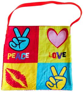 Kiki's Nation Peace Love Towel Shoulder Bag