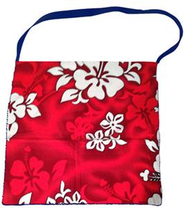 Kiki's Nation Red Hibiscus Towel Shoulder Bag