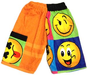 Kiki's Nation Smiley Towel Jammers Shorts