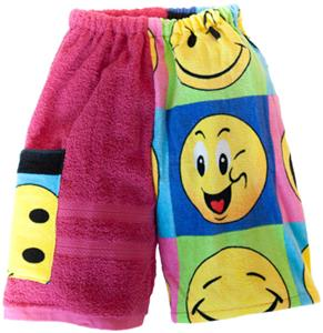 Kiki's Nation Pink Smiley Towel Jammers Shorts