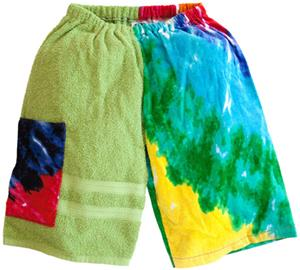 Kiki's Nation Multi Tie-Dye Towel Jammers Shorts
