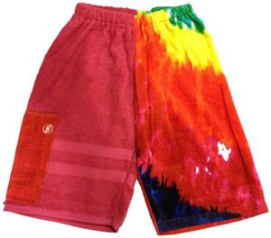 Kiki's Nation Pink Tie-Dye Towel Jammers Shorts