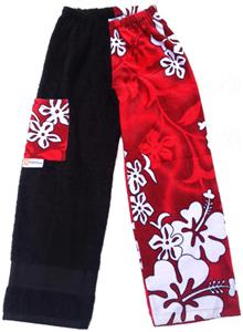 Kiki's Nation Red Hibiscus Towel Pants