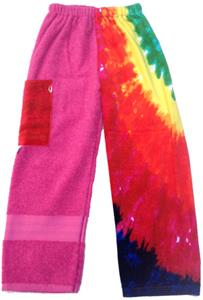 Kiki's Nation Pink Multi Tie-Dye Towel Pants