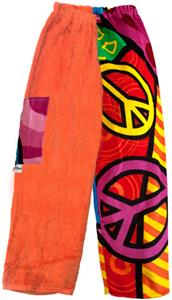 Kiki's Nation Multi Peace Sign Towel Pants