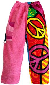 Kiki's Nation Pink Multi Peace Sign Towel Pants