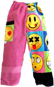 Kiki's Nation Pink Smiley Towel Pants
