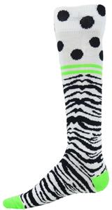 Red Lion Zebra Dots Knee High Socks