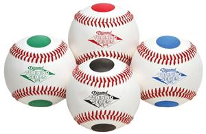 Diamond 4 Color Dot Visual Training Baseballs