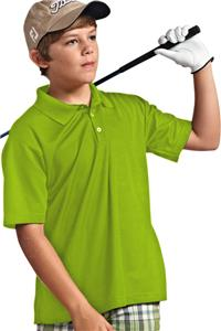 Paragon Youth Solid Mesh Polo Shirts