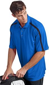 Paragon Adult Contrast Sleeve Stripes Polo Shirts