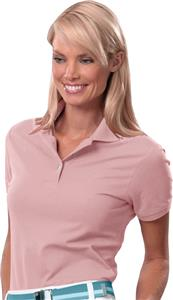 Izod Ladies Silkwash Stretch Pique Pink Polo Shirt