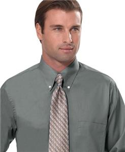 Van Heusen Men's Silky Poplin Button Up Shirts