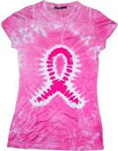 Colortone Breast Cancer Tie Dye Sublimation TShirt