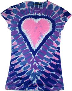 Colortone Heart Tie Dye Sublimation Tee Shirts