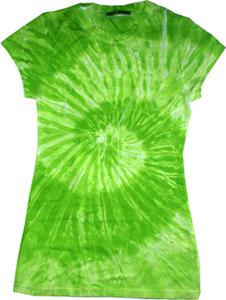 Colortone Green Swirl Tie Dye Sublimation T-Shirts