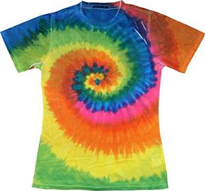 Colortone Swirl Tie Dye Sublimation Tee Shirts